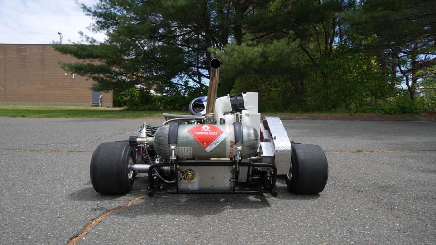 Il Go-Kart di LiquidPiston ad idrogeno visto da dietro