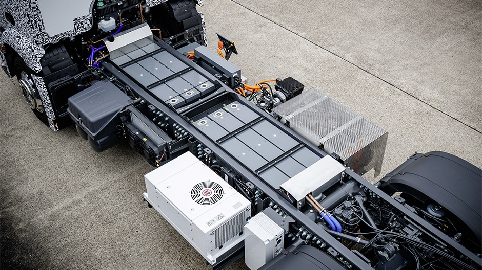 Il pacco batteria dell'eActros