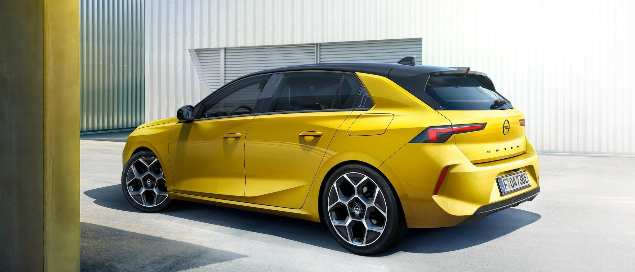 Nuova Opel Astra, vista a tre quarti posteriore